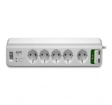 APC PM5U-GR Essential SurgeArrest 5 outlet strip USB charging