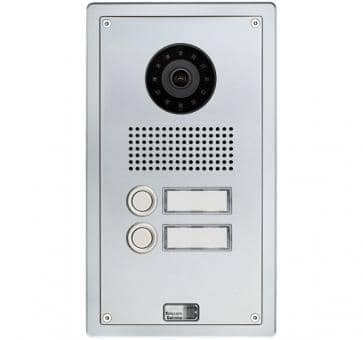 Telecom Behnke series 5 silver 2 buttons IP doorstation Aluminium 5-0013-IP flush mount