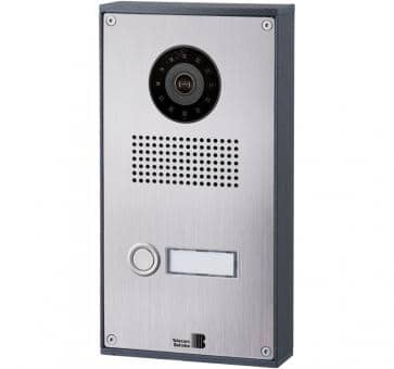 Telecom Behnke series 5 silver 1 button IP doorstation stainless steel 5-0026-IP V2A wall mount