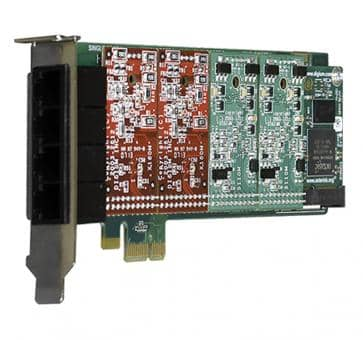 Digium 1A4A00F 4 port base card analog PCIe (without modules
