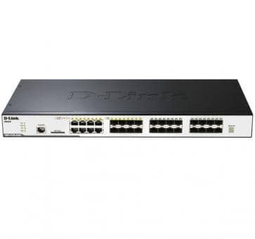 D-Link DGS-3120-24SC 24x Gigabit SFP thereof 4x 1000BASE-T/SFP 2x 10 Gigabit Stacking Ports L2 Switch
