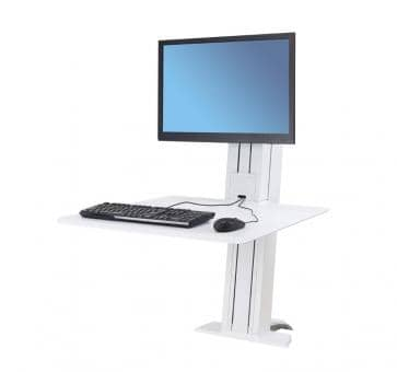 Ergotron WorkFit-SR Single Monitor white Sit-Stand Desktop W