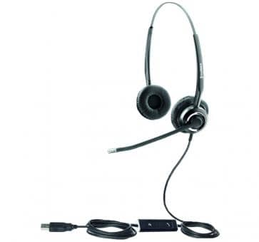 freeVoice SoundPro FSP412UCB Headset USB UC Duo Skype for Business