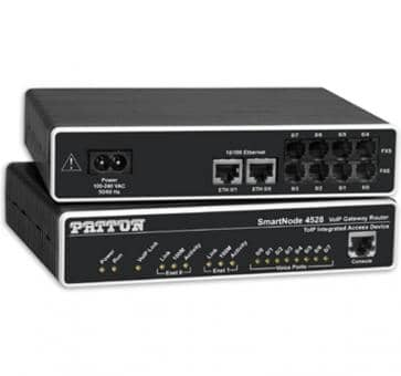 Patton SmartNode 4528 8x FXS VoIP Gateway Router SN4528/JS/E
