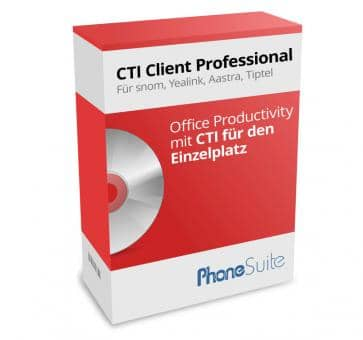 PhoneSuite CTI Client Professional (for snom, Yealink, Aastra, Tiptel)