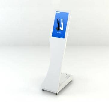 SWEDX Signo Mini-Stele SWSS156-A1 Digital Signage 15,6 inch white