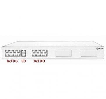 Xorcom Astribank - 8 FXS + 8 FXO - XR0004 - 1U