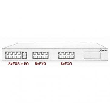 Xorcom Astribank - 8 FXS + 16 FXO - XR0007