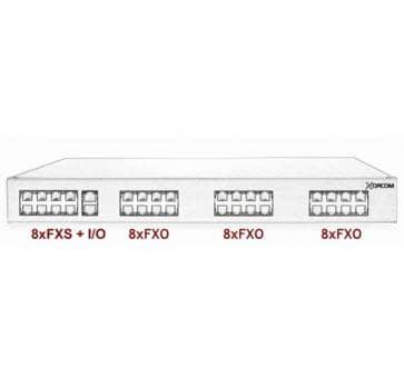 Xorcom Astribank - 8 FXS + 24 FXO - XR0011