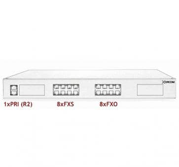 Xorcom Astribank - 1 PRI + 8 FXS + 8 FXO - XR0072