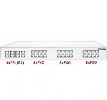 Xorcom Astribank - 4 PRI + 24 FXO - XR0083