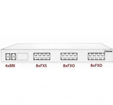 Xorcom Astribank - 4 BRI + 8 FXS + 16 FXO - XR0097