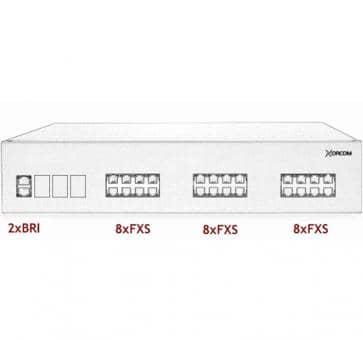 Xorcom IP PBX - 2 BRI + 24 FXS - XR2066