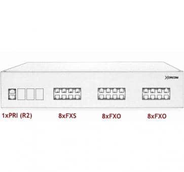 Xorcom IP PBX - 1 PRI + 8 FXS + 16 FXO - XR2073