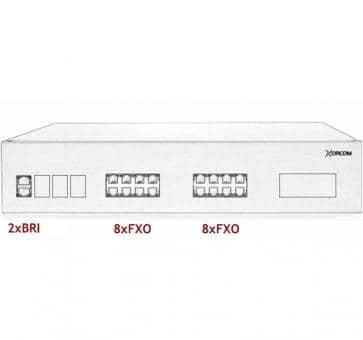 Xorcom IP PBX - 2 BRI + 16 FXO - XR2088