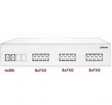 Xorcom IP PBX - 4 BRI + 24 FXO - XR2095